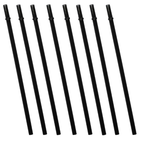Black Replacement Acrylic Straw Set Of 8, For Tumblers 16Oz, 20Oz, 24Oz