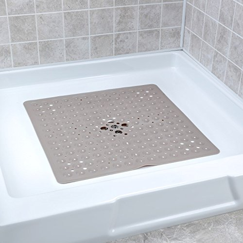 Deluxe Square Shower Mat - Tan