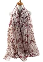 GERINLY Cute Floral Print Scarf for Women Spring Shwal Wrap -Various Colors