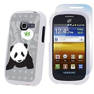 Samsung Galaxy Centura S738C White Protection Case + Screen Protector