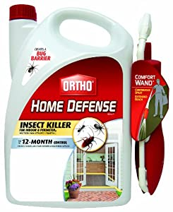 Ortho 0196810 Home Defense MAX Insect Killer Spray for Indoor and Home Perimeter with Comfort Wand, 1.1-Gallon (Ant, Roach, Spider, Stinkbug & Centipede Killer)