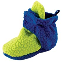 Scooties Fleece Booties by Luvable Friends, Lime, 6-12 Months