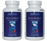 マルチビタミン (銅、鉄分を含まず)[海外直送品](Multi-Vi-Min® without Copper & Iron 150 Vegetarian Caps ) 2ボトル