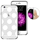 iPhone 6, Phone 6 Case, iPhone 6 Case Clear with Design, ESR iPhone 6 Slim Fit Case [Beat Series ] Integrated Soft TPU Bumper+ Hard Back Cover for 4.7 inches iPhone 6s /iPhone 6(Polka Dots)