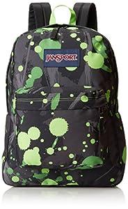JanSport Superbreak Backpack - Zap Green Super Splash / 16.7H x 13W x 8.5D