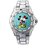 New Fashion WE115 Mickey Minnie Mouse Hug Stainless Steel Wrist Watch
