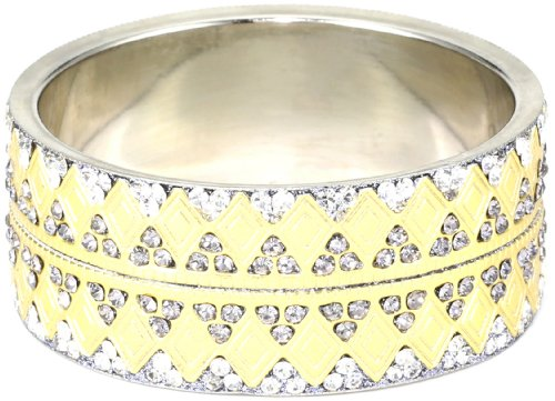 Chamak by priya kakkar Grey Base Metal Bangle Bracelet