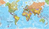 Maps International Huge World Political Wall Map - Laminated