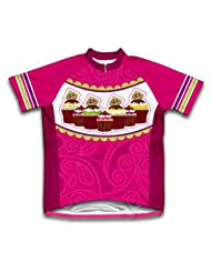 Cup Cake Short Sleeve Cycling Jersey for Women