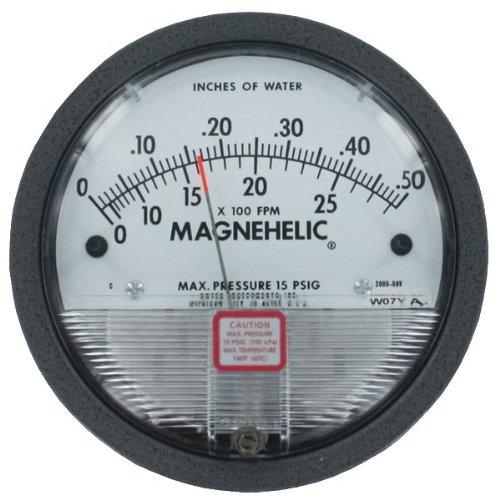 Dwyer® Magnehelic® Differential Pressure Gage, 2001-AV, 0-1.0