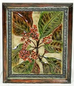 Pinnacle Strategies H80185/2 Leaf and Red Berries Metal Wall Plaque