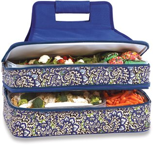 Picnic Plus Entertainer Hot & Cold Food Carrier - English Paisley - 1