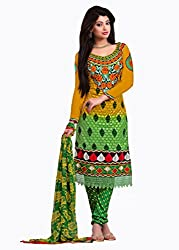 Traditional 2 Trendy Women's Handwork Unstitched Dress Material