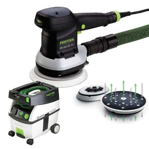 "Festool Ets 150/3 Eq 6"" Random Orbital Sander + Ct Midi Dust Extractor Package front-551381"