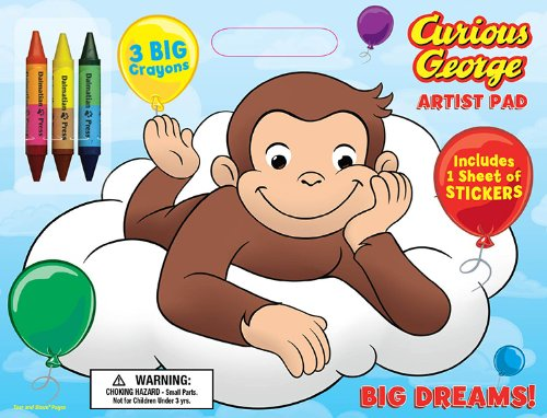 Bendon Publishing Curious George Big Dreams! Artist Pad with Crayons