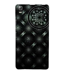 GEOMETRICAL SILVER AND BLACK PATTERN 3D Hard Polycarbonate Designer Back Case Cover for Lenovo A7000