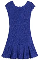 Diane von Furstenberg DVF Brittany Flirty Lace Dress in Chrome Purple