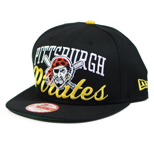 Pitsburgh Pirates Arch Script 9FIFTY Snapback Hat Cap