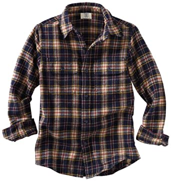 Wes and Willy Little Boys' Flannel Plaid Shirt, Patriot Navy, 2T