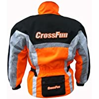 Motocross Jacke orange weis