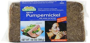 Mestemacher Pumpernickel, 17.6-Ounce Packages (Pack of 12)