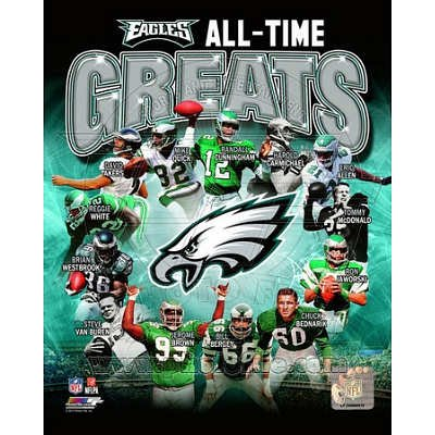 (16x20) Philadelphia Eagles All Time Greats Composite
