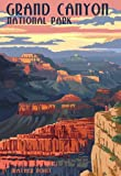 (13x19) Grand Canyon National Park - Mather Point Vintage Poster