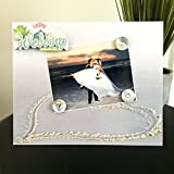 My frames are magnetic backed, covered with beautiful paper, and come with 3 embellished magnets. All frames are 9 x 11 and have a velvet easel back for free standing display or can be hung by a beautiful attached ribbon. Each frame is great ...