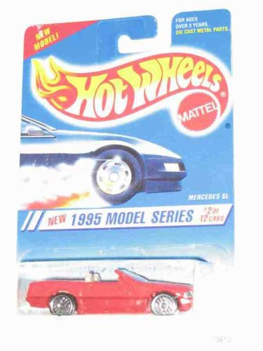 MERCEES BENZ SL Hot Wheels 1995 New Models 1:64 Scale Collectible Die Cast Car #342