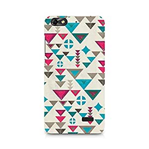 Motivatebox- Fusion Triangles Premium Printed Case For Huawei Honor 4C -Matte Polycarbonate 3D Hard case Mobile Cell Phone Protective BACK CASE COVER. Hard Shockproof Scratch-