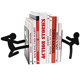 Mustard Stickmen Metal Bookends (M16021), Model: M16021, Office/School Supply Store