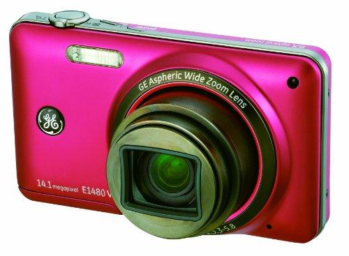 GEデジタルカメラ E1480W レッド E1480WRD