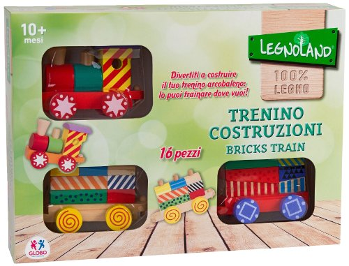 Legnoland 35693 - Trenino in Legno Arcobaleno Trainabile