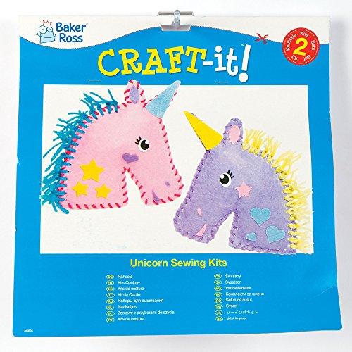 Kits-de-Couture-Coussins-Licornes-en-Feutre-que-les-Enfants-pourront-Fabriquer-et-Dcorer-pendant-leurs-Loisirs-Cratifs-de-lt-puis-Exposer-Lot-de-2