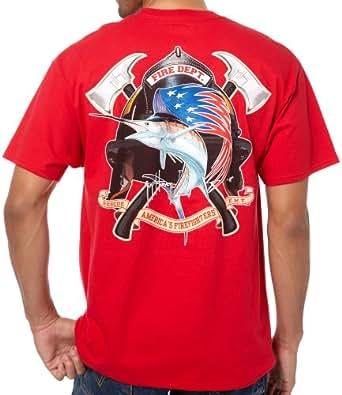 Guy Harvey Mthm1782 Fire Department T Shirt