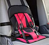 BABY BUCKET Multi-function Adjustable Baby Car Cushion Seat with Safety Belt - For Babies & Toddlers-Red