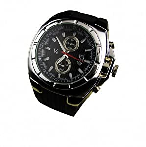 Youyoupifa Top Selling Luxury Imitationold Quartz Wrist Sports Wrist Watch-black+silver-unisex