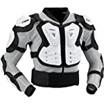 Fox Racing Titan Sport Jacket Men's Roost Deflector Motocross/Off-Road/Dirt Bike Motorcycle Body Armor - White / X-Large
