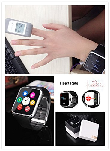 sma bluetooth smart watch wristwatch phone with heart rate. Black Bedroom Furniture Sets. Home Design Ideas