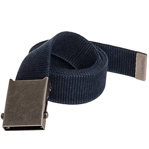 Columbia Mens Cotton Adjustable Military Style Web Belt (Navy)