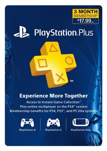 3-Month Playstation Plus Membership  – PS3/ PS4/ PS Vita [Digital Code] image