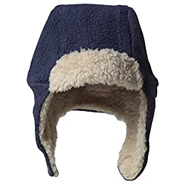 Zutano Cozie Fleece Furry Hat -Navy - 18M