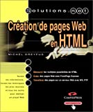 Cration de pages Web en HTML