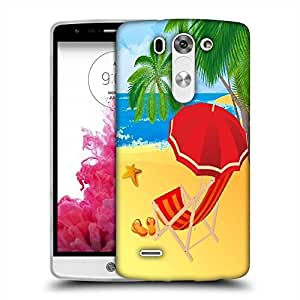 Snoogg tropical beach vector Designer Protective Back Case Cover For LG G3 BEAT STYLUS