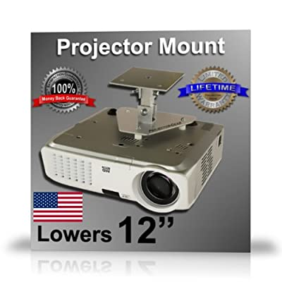 Projector-Gear Projector Ceiling Mount for INFOCUS IN3108 with 12 Extension