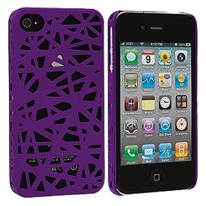 Lila Birds Nest Snap-On Hard Back Cover Case für Apple iPhone 4 4G 4S