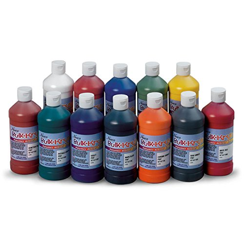 Nasco 9100150 bulk krylic acrylic paint 1 pint pack of for Acrylic paint in bulk