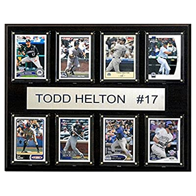 C and I Collectables MLB 15W x 12H in. Todd Helton Colorado Rockies 8 Card Plaque