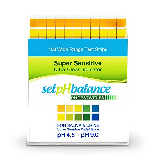 SelpHbalance pH Test Strips 4.5-9, Great For testing Urine, Saliva, Drinking Water, Pool, Hot Tub, and Alkaline Diet, Easy to Read High-Quality Test Strips, Fast and Accurate Results, 100ct