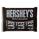 Hershey's Milk Chocolate Bars, 6-Count, 1.55-Ounce Bars (Pack of 4)